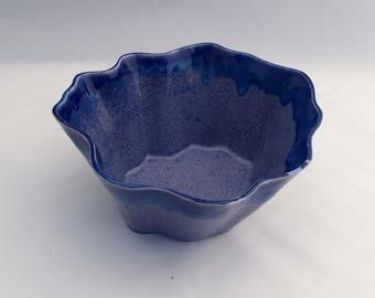 Blue Slip-cast Porcelain Ceramic Bowl