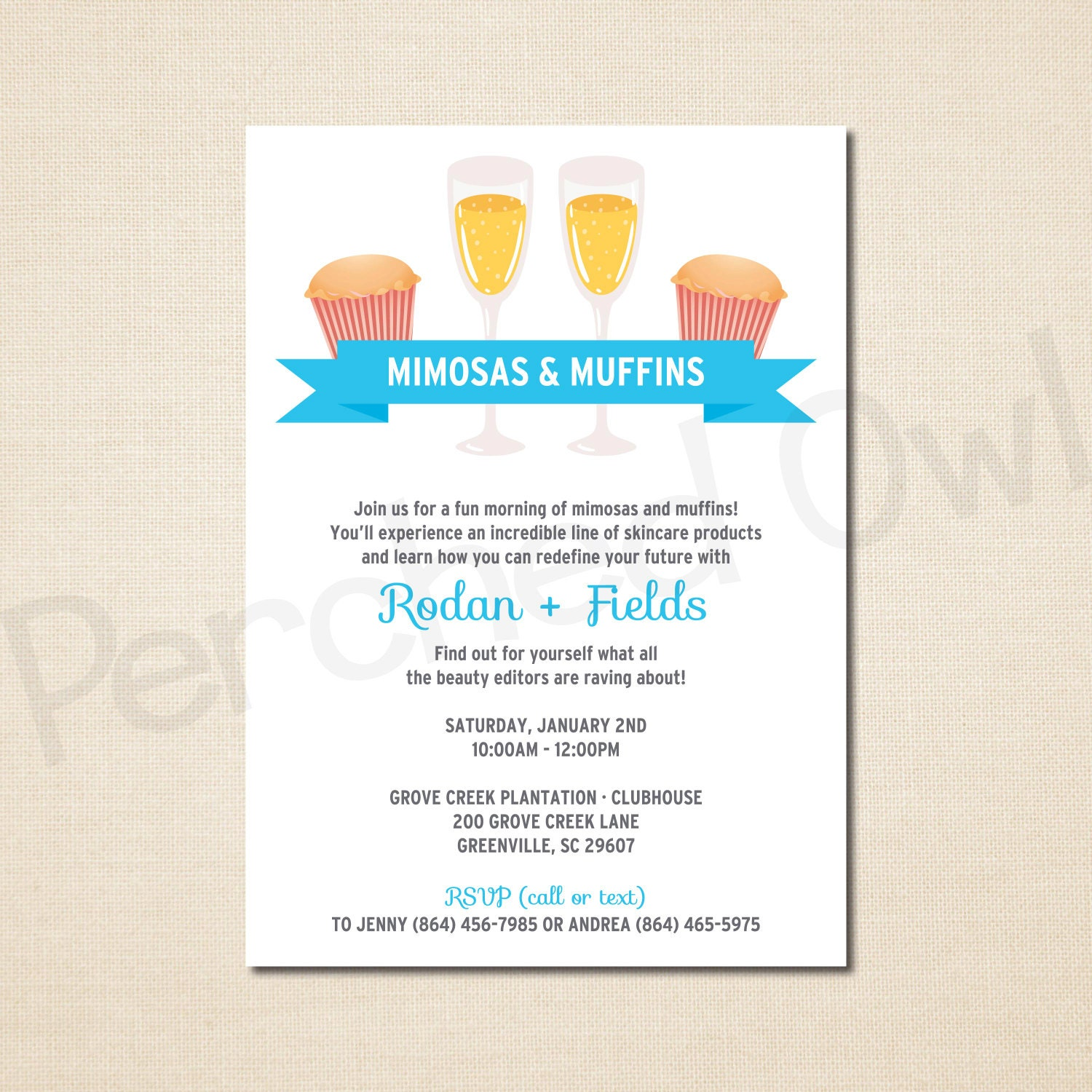 mimosas muffins invitation direct selling business