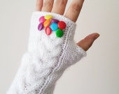 Candy Sugar Fingerless Gloves, Gloves & Mittens, Gift Ideas, For Her, Winter Accessories, Winter Fashion, Accessories, Fall, Autumn