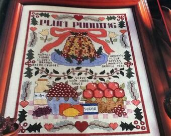Christmas Plum Pudding - Cross Stitch Pattern Only