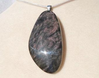 Royal Velvet Mexican Obsidian Pendant