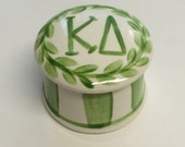 Kappa Delta Round Ring Box