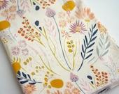 Wildflower Baby Blanket | Swaddle Blanket | Baby Blanket & Hat Gift by JuteBaby