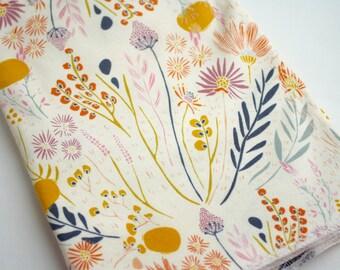 Wildflower Baby Blanket   Swaddle Blanket   Baby Blanket & Hat Gift by JuteBaby