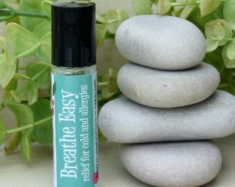 Breathe Easy Blend, aromatherapy roller, natural essential oil blend, essential oil roll-on