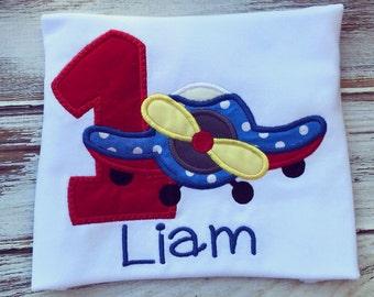 Airplane birthday shirt, airplane birthday onesie, 1st birthday onesie, 1st birthday shirt, boys 1st birthday onesie, boys 1st birthday