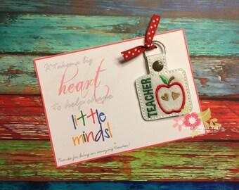 School Teacher Apple Key Chain