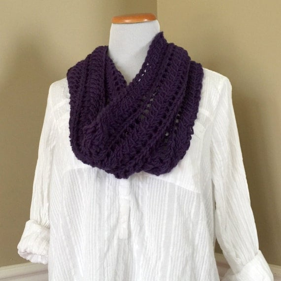 Quill Knitting Pattern : Quill Eyelet Cowls Knit Pattern - Infinity Scarf Pattern   Hand Knit Pattern ...