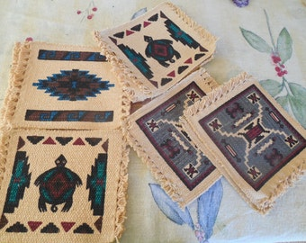 Southwest design cotton blocks your creation or mug rugs 9.00 for a set of four         three different sets.