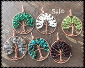 Tree of Life in Gemstones and Copper