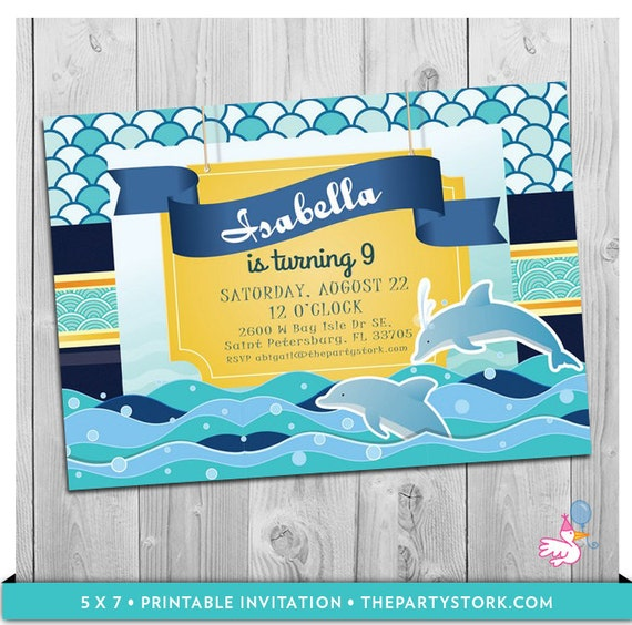 Dolphin invitations dolphin party printable dolphin birthday party il570xn filmwisefo Gallery
