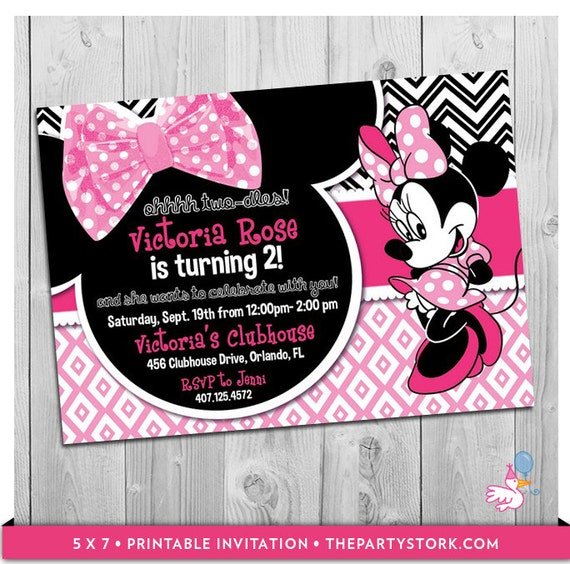 Minnie Mouse Nd Birthday Invitation Wording Alesiinfo - Minnie mouse birthday invitation message