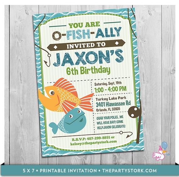 Fishing Invitation Fish Invitation Fishing Party Fishing Party – Fishing Party Invitations