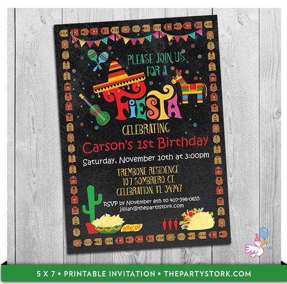 like this item - Mexican Party Invitations