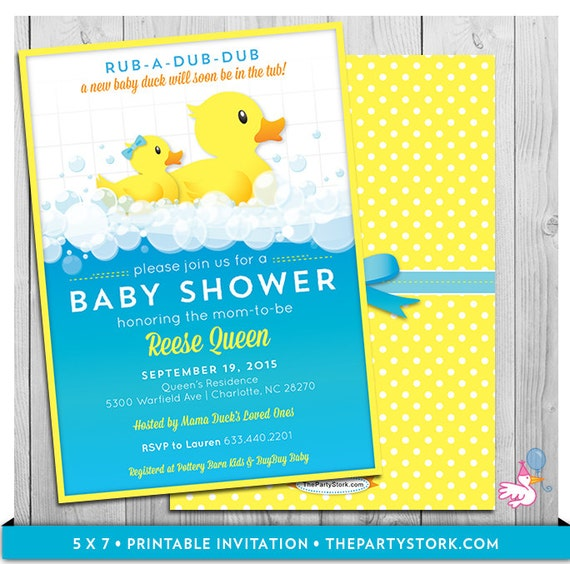 Rubber Ducky Invitations for awesome invitation sample