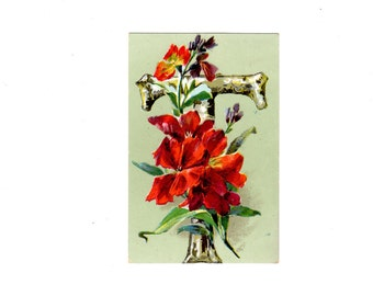 "Letter ""T"" Flowery Postcard"
