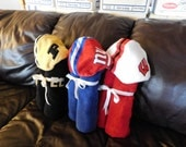 Sports Fan Hooded Towel Helmet Hoods - Free Personalization