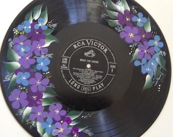 Hand painted LP vinyl record
