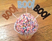 Boo! Halloween Cupcake Toppers -- Halloween Party Toppers