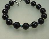 Jet and Hematite Bracelet - Mourning Jewelry Sadness Grief Sorrow Deflect Negative Energy - Reiki Jewelry