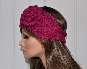 Soft Crochet headband Handmade Headband Headwrap   Great gift ides Winter accessories