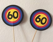 Target table numbers, Wedding, Shower, Target table numbers on a stick,  Target centerpieces
