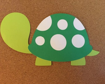 4 Turtle die cuts, 4 paper die cuts, Turtles, custom Turtle die cuts
