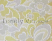 Build Your Own Custom Sample Vintage Wallpaper Packet - Single Scrap Sheet, 8 1/2 in. x 10 1/2 in. Page - Retro Chartreuse and Gray Floral