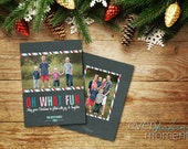 Christmas Photo Card, Photo Christmas Card, Holiday Photo Card (digital or print yourself) custom,  -- Front and back double sided