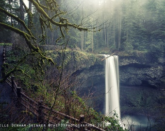 Oregon Photograph | Silver Falls State Park | Waterfall | Dreamy Pastels | Travel Photograph | Waterfall Print | Nature Photo
