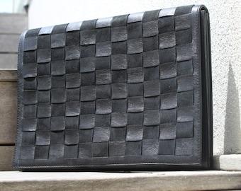 Jetsun Black Suede and Leather Envelope Bag