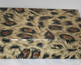 Vintage Gift Box Leapard Design 2 x 4.5 x 7.25