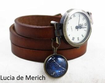 Constellation wrapwatch - Constellation gift - Zodiac Sign watch - Black friday-Cyber monday.