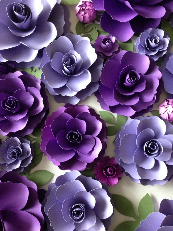 Purple paper flowers wedding arch decor flower backdrop like this item junglespirit Choice Image