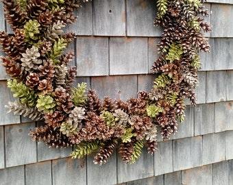 Extra Large Extra Gorgeous Maine Pinecone Wreath