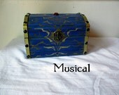 Musical--The Large Boss Key Chest with Sound, Solid Wood, Ocarina of Time, Legend of Zelda