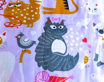 Cat Fabric by The Alexander Henry Company 1.5 yards