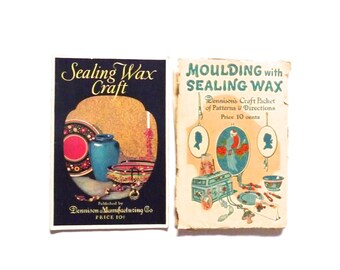 Vintage Dennison Sealing Wax Craft Book and Patterns