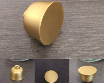 Linda Cabinet Knob, Drawer Knob, Satin Brass Knob, Drawer Pull