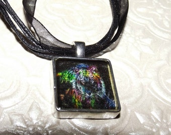 Tiger Abstract Marble Necklace