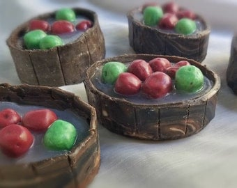 CLEARANCE-Bobbing for Apples-French Milled & Hand Sculpted Natural Soap