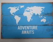 Rustic Pallet Sign Adventure Awaits