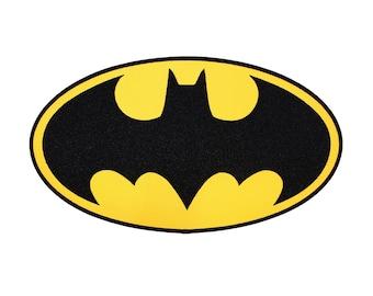 XLG Batman Superhero Costume Logo Dark Knight Bat Signal Iron-On Applique Patch