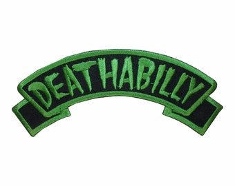 Deathabilly Name Tag Dead Horror Kreepsville Embroidered IronOn Applique Patch
