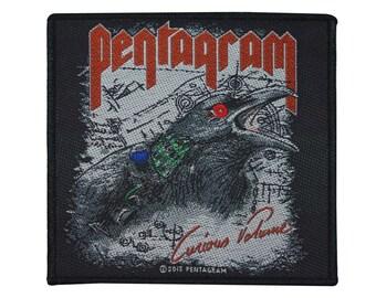"Heavy Doom Metal ""Pentagram: Curious Volume"" Album Art Patch Sew-On Applique"