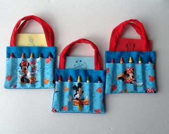 Mickey Mouse, Minnie, and Daisy Children's Crayon Bag, Birthday Party Favor