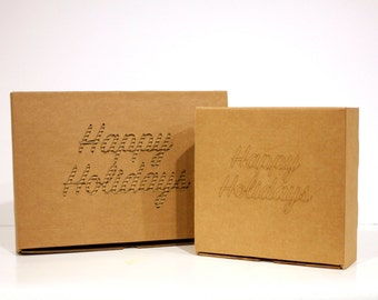 Happy Holidays box | Personalized packaging