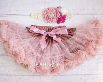 Blush Baby Girl Tutu..Flower Girl Tutu Outfit...Cake Smash Outfit..Blush.Newborn Tutus..1st Birthday Outfit..Baby's Birthday Outfit.