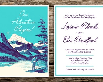 View Wedding Invitations by factorymade on Etsy