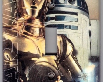 Star Wars Robots R2D2 / C3PO Switchplate Cover - Single Jumbo size (8171)